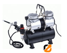 Oil Free Airbrush Compressor AS196K (With Airbrush)