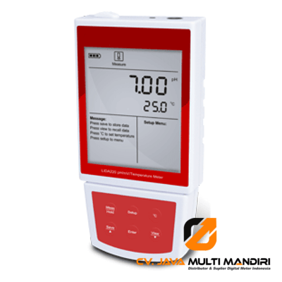 Portable pH-mV-Temp Meter PH-220
