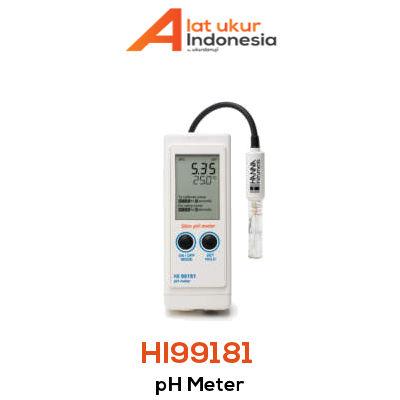 Alat Ukur pH Portabel HANNA INSTRUMENT HI99181